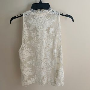 Free People Lace Top NWOT